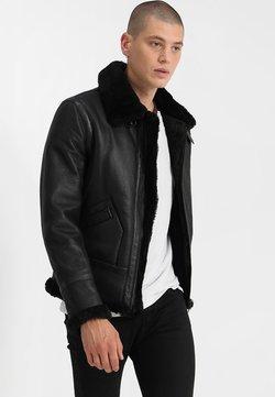 Serge Pariente - KENNEDI SHEARLING - Leren jas - black
