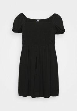 Cotton On Curve - LEONA BELL SLEEVE MINI DRESS - Freizeitkleid - black