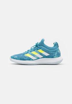 adidas Performance - DEFIANT GENERATION - All court tennisskor - haze blue/solar yellow/footwear white