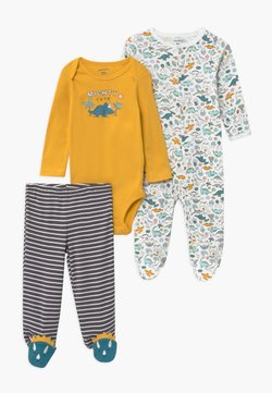 Carter's - GOLD SET - Strampler - yellow/grey/teal