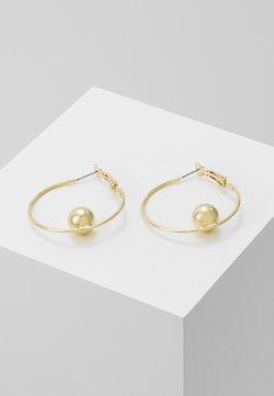 SNÖ of Sweden - JUNE BIG RING EAR PLAIN  - Earrings - gold-coloured