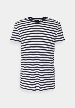 recolution - TENCEL STRIPES - T-Shirt print - navy/white