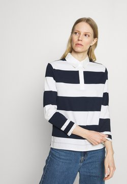 Marks & Spencer London - RUGBY STRIPE  - Poloshirt - dark blue