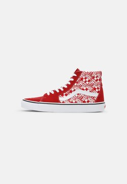 Vans - SK8-HI - Korkeavartiset tennarit - chili pepper/racing red