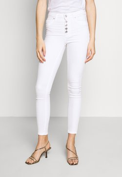 ONLY - ONLBLUSH BUTTON  - Jeans Skinny Fit - white