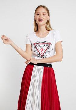 Guess - ROSES TEE - T-shirt z nadrukiem - true white