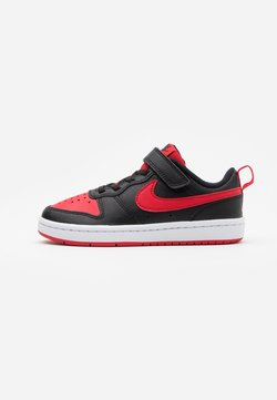 Nike Sportswear - COURT BOROUGH 2 UNISEX - Matalavartiset tennarit - black/university red/white