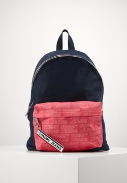 Tommy Jeans - LOGO TAPE DOME BACKPACK - Reppu - dark blue/pink