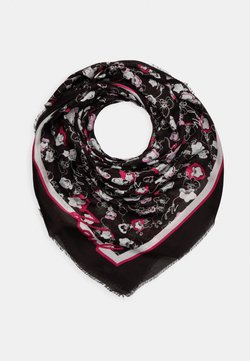KARL LAGERFELD - ALL OVER ORCHID SQUARE SCARF - Foulard - black