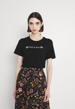 ONLY - ONLKITA LIFE REG BUG TOP - T-shirt z nadrukiem - black
