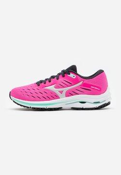 Mizuno - WAVE RIDER 24 - Zapatillas de running neutras - pink glow/new cloud/atlantis