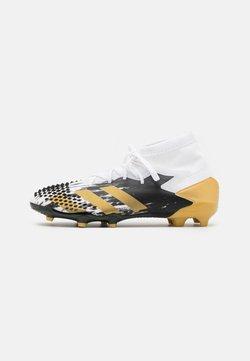 adidas Performance - PREDATOR MUTATOR 20.1 FOOTBALL BOOTS FIRM GROUND UNISEX - Fußballschuh Nocken - footwear white/gold metallic/core black