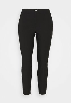 Noisy May Curve - NMSOLINE SOLID PANTS - Stoffhose - black