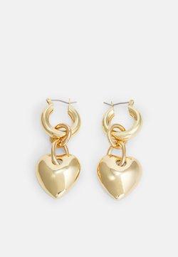 sweet deluxe - HERZ - Earrings - gold-coloured