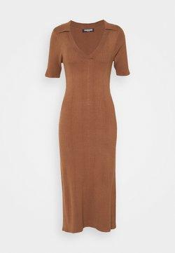 Fashion Union - DIXON DRESS - Vestido de punto - brown