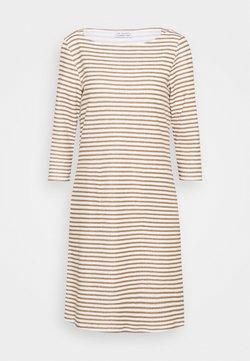 Re.draft - STRIPED DRESS - Jerseykleid - tobacco