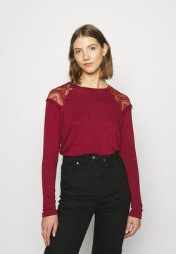 ONLY - ONLKIRA MIX - Bluzka z długim rękawem - pomegranate