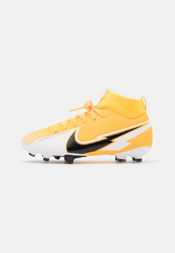 Nike Performance - MERCURIAL JR 7 ACADEMY FG/MG UNISEX - Chaussures de foot à crampons - laser orange/black/white
