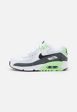 Nike Sportswear - AIR MAX 90 UNISEX - Sneakers laag - white/black/vapor green