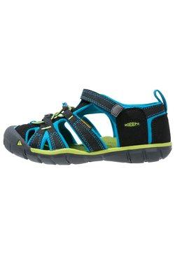 Keen - SEACAMP II CNX - Sandały trekkingowe - black/blue danube