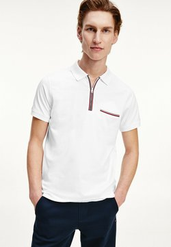 Tommy Hilfiger - ZIP PLACKET  - Polo - white