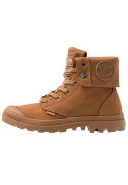 Palladium - BAGGY NUBUCK - Lace-up ankle boots - mahogany