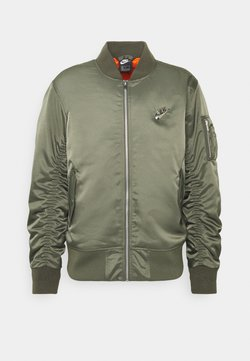 Nike Sportswear - PUNK BOMBER JACKET - Blouson Bomber - twilight marsh/electro orange