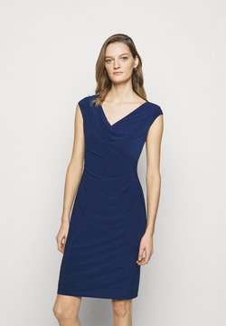 Lauren Ralph Lauren - MID WEIGHT DRESS - Vestido de tubo - twilight royal