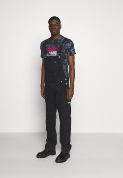 Tommy Jeans - TJM DUNGAREE - Salopette - save black rinse rigid