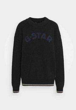 G-Star - COLLEGE GR R LOOSE KNIT WMN L\S - Maglione - dk black