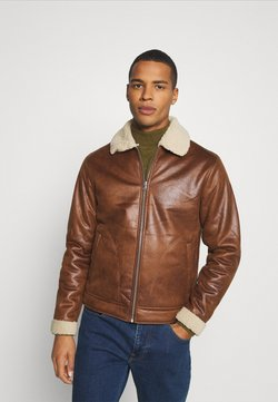 Jack & Jones - JJFLIGHT JACKET - Imitatieleren jas - cognac