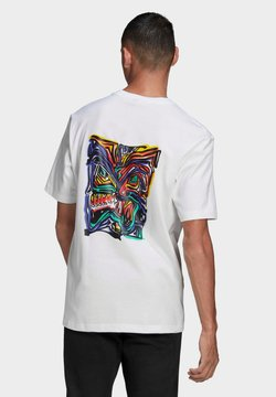 adidas Originals - ADIDAS ADVENTURE MUNCHING MAN ARCHIVE GRAPHIC T-SHIRT - T-Shirt print - white