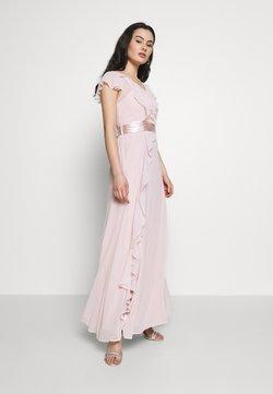 Dorothy Perkins - RILEY RUFFLE DETAIL SOFT SLEEVE MAXI DRESS - Vestido de fiesta - blush