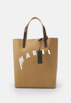 Marni - SHOPPING BAG - Shopping Bag - cement/natural white/thyme