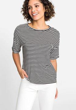 Olsen - MIT STREIFEN - T-Shirt print - schwarz