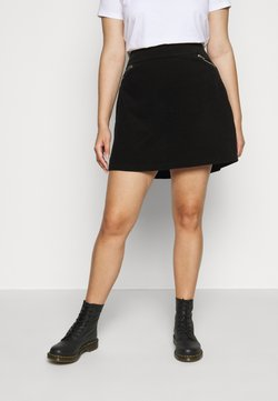New Look Curves - ZIP SKIRT - A-Linien-Rock - black