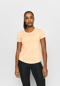 Nike Performance - RUNWAY - Camiseta básica - melon tint/guava ice/heather/silver