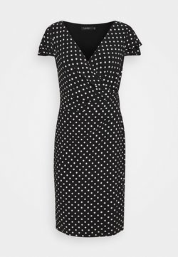Lauren Ralph Lauren - PRINTED MATTE DRESS - Vestido de tubo - black