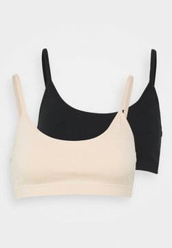 Anna Field - 2 PACK - Top - black/nude