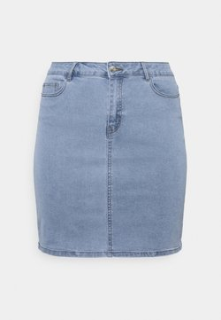 Vero Moda Curve - VMHOT PENCIL SKIRT - Minirock - light blue denim