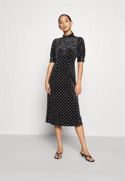YAS - YASSELMA LONG DRESS - Sukienka letnia - black/silver