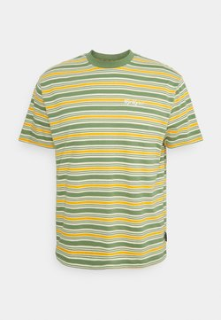 Kickers Classics - STRIPE TEE - T-Shirt print - green/orange/cream
