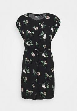 Vero Moda - VMSIMPLY EASY TIE SHORT DRESS - Freizeitkleid - black