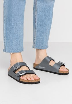 Birkenstock - ARIZONA - Tofflor & inneskor - icy metallic anthracite