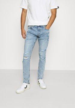 Only & Sons - ONSLOOM SLIM LIFE BLUEDESTROY  - Jeans Slim Fit - blue denim