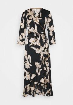 Object - OBJLAUREN WRAP DRESS  - Vapaa-ajan mekko - black
