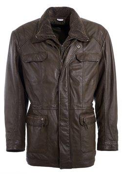 JCC - PELZIMITAT - Leren jas - brown