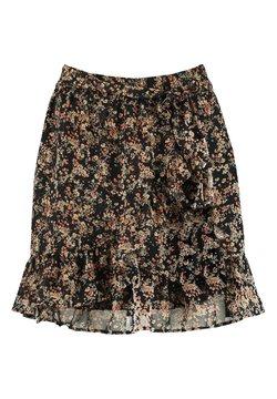 America Today - ANN - A-lijn rok - flower black