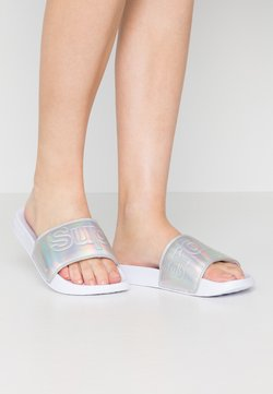 Superdry - Badesandale - silver holographic
