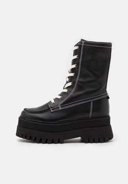 Bronx - GROOVY CHUNKY - Plateaustiefel - black/winter white